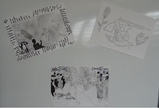 Dessins réalisés par des élèves de STMG1